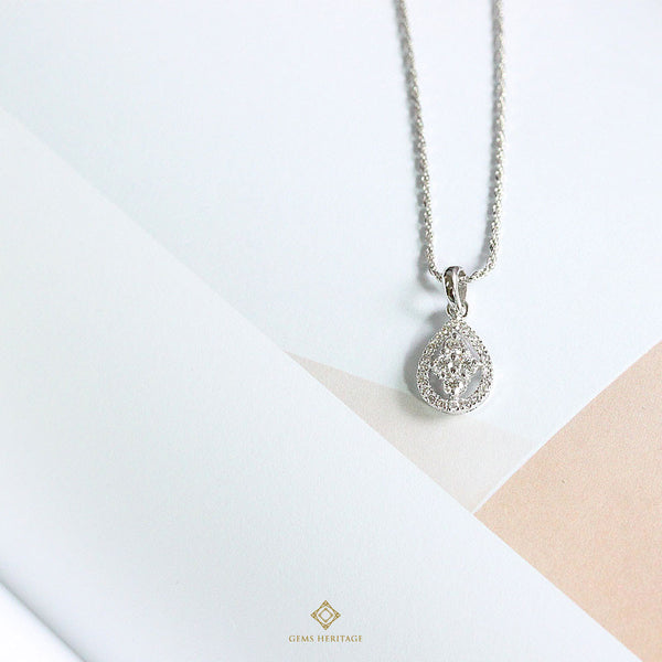 Drop Diamond Pendant