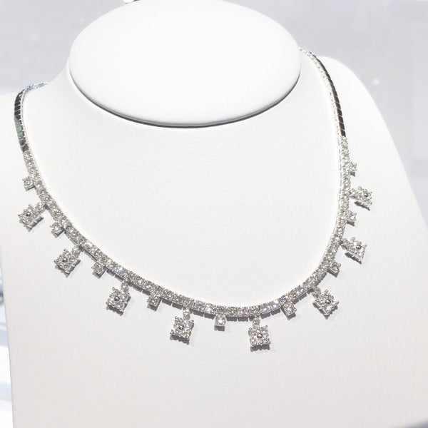 Crown Diamond Necklace