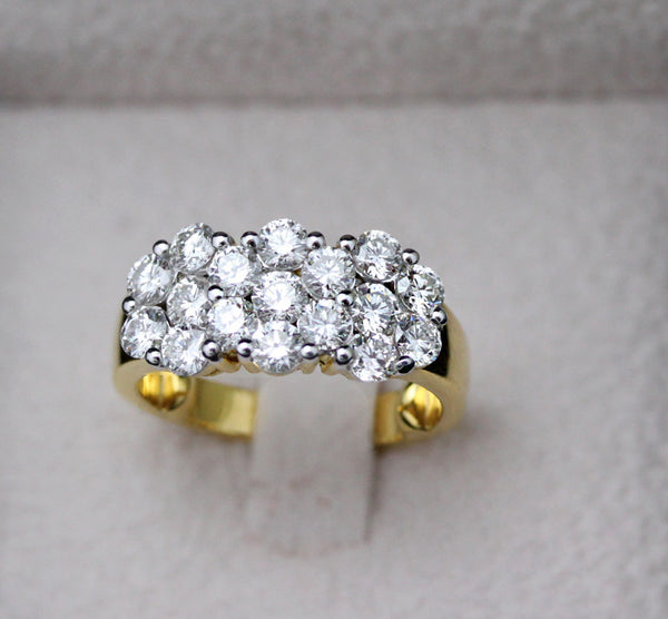 Three Illusion diamond ring