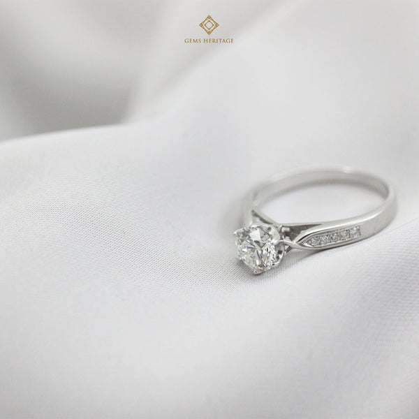 0.73 cts center stone engagement ring