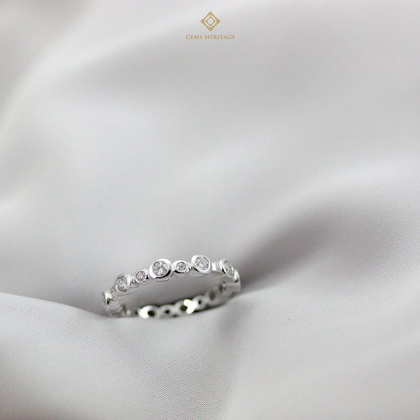 Round Eternity diamond ring