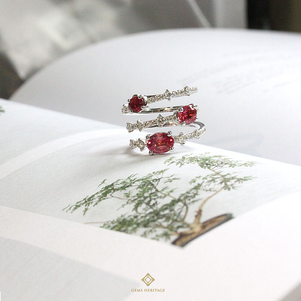 Ruby Diamond Ring Cuff