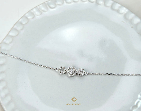 Round Illusion setting diamond bracelet
