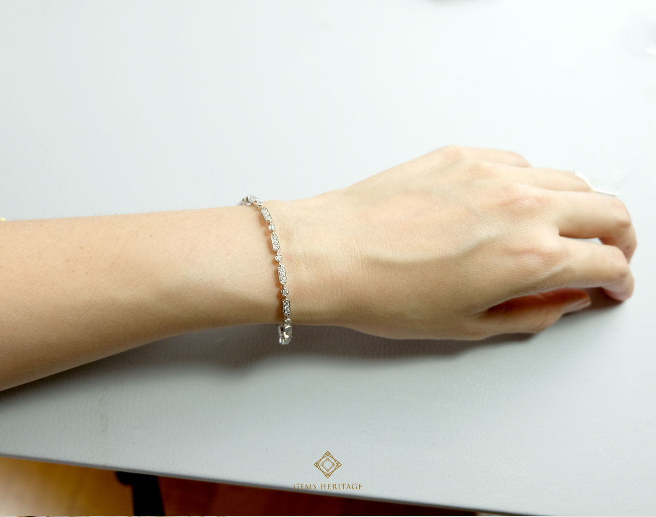 Blocks Diamond bracelet