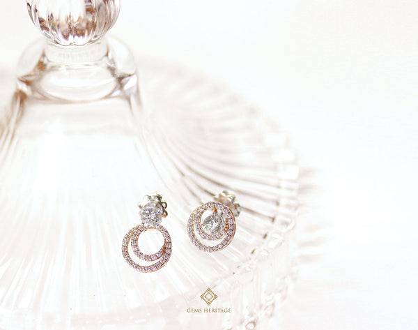 3-ways diamond earrings