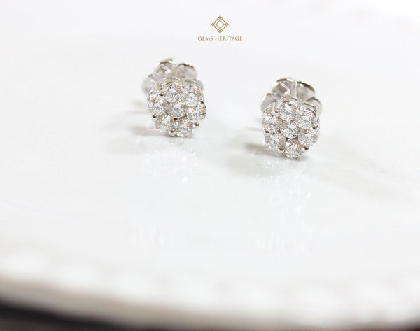 Illusion diamond earrings(S)