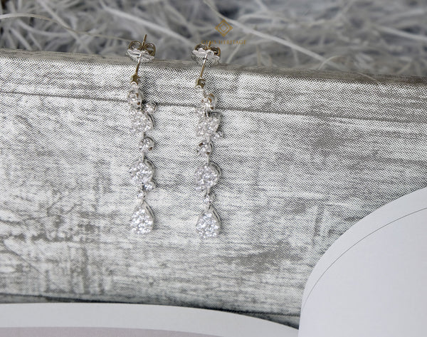 Snow Fall Diamond Earrings