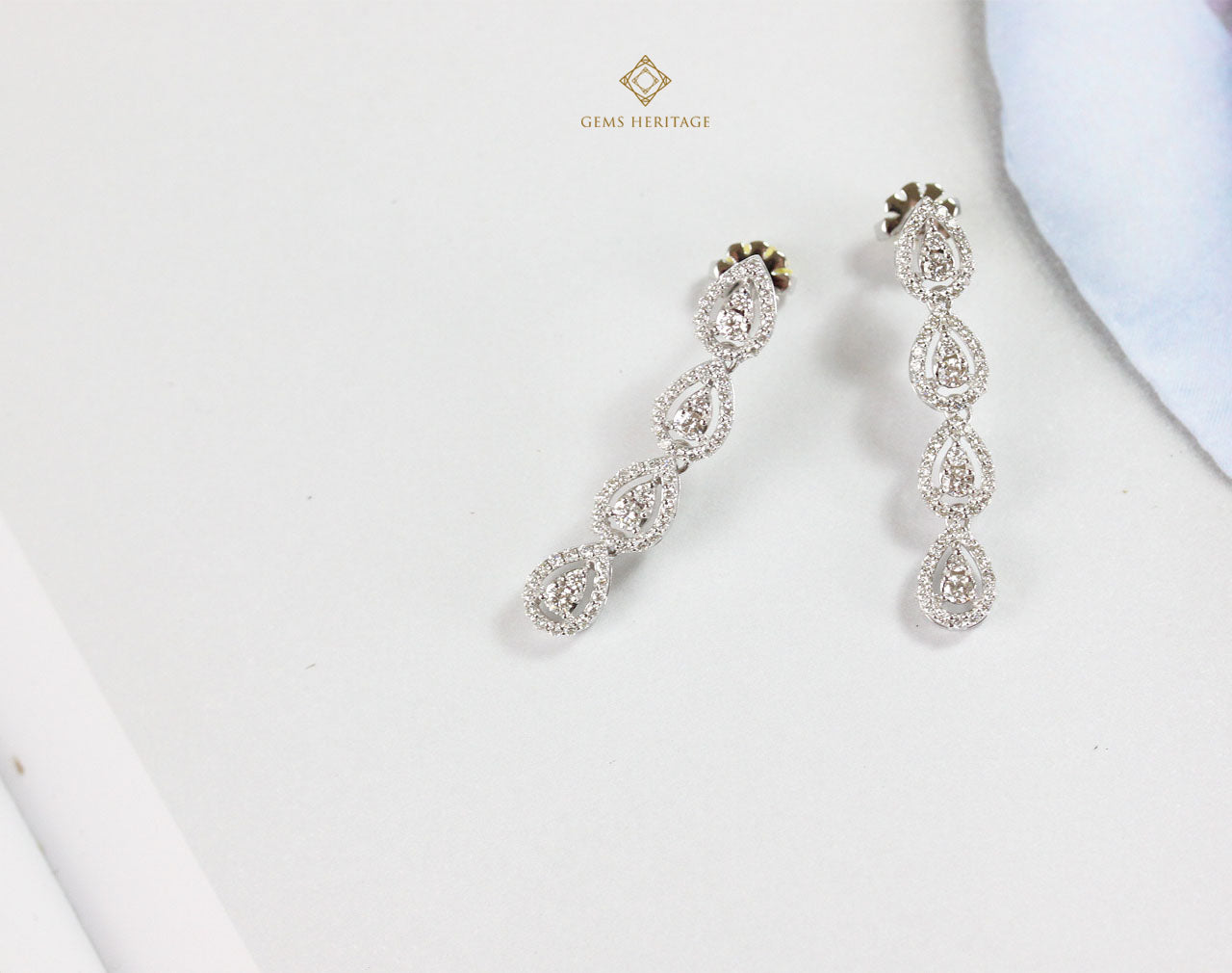 Pear drops diamond earrings