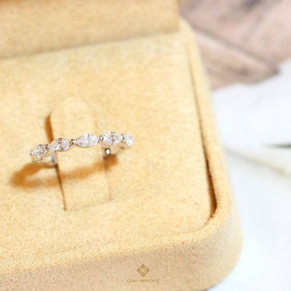 marquise diamond band ring