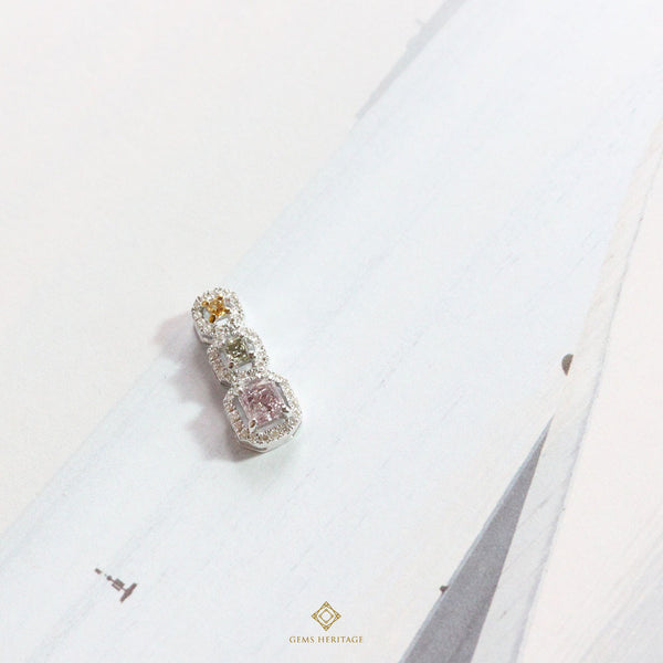 Natural Fancy color Diamond Pendant
