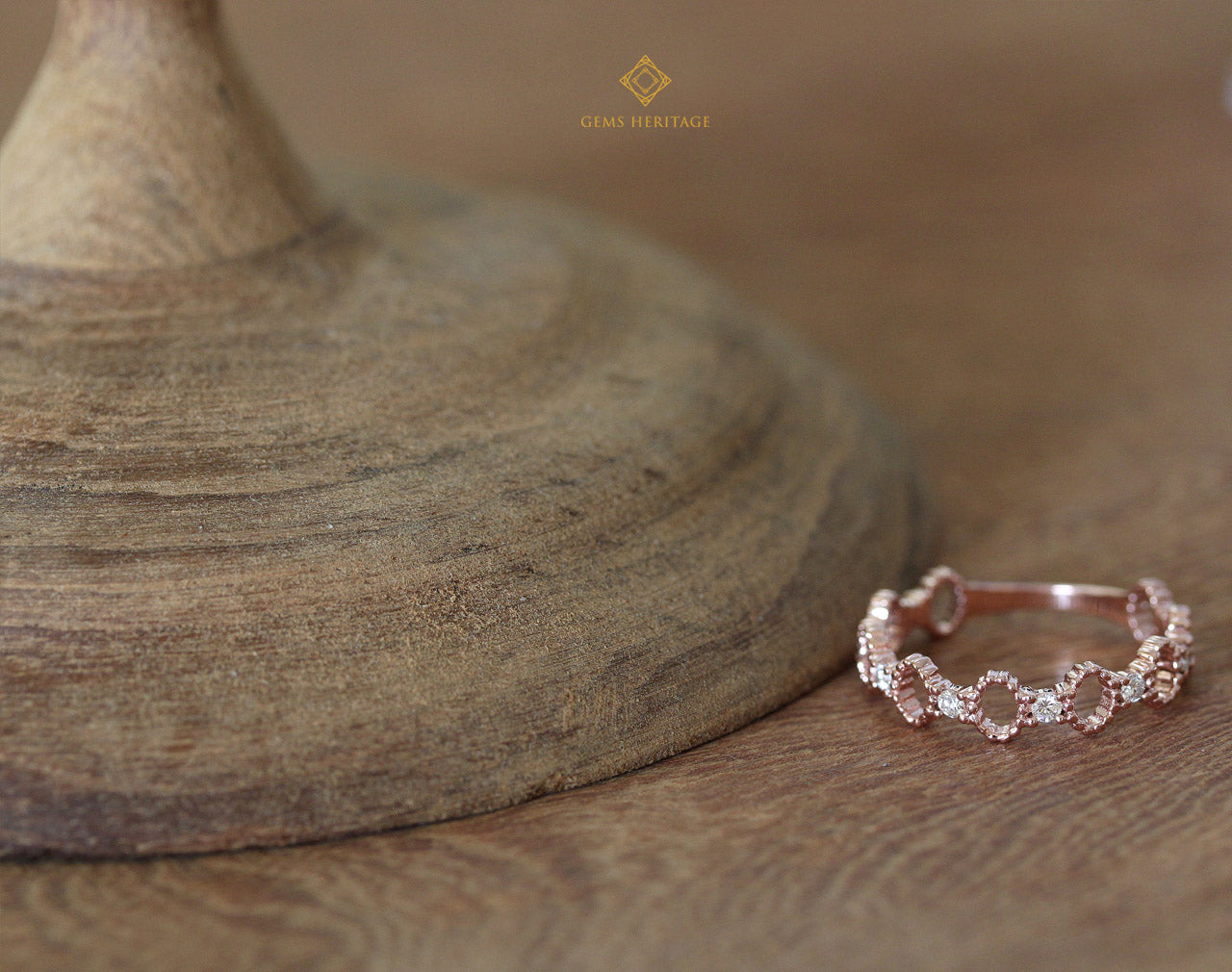 Oval lace diamond ring