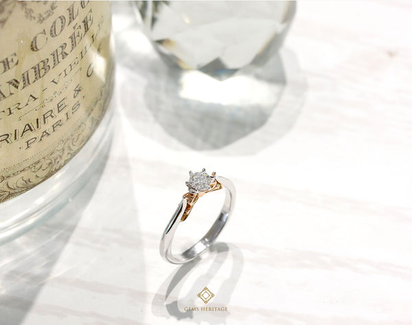 Solitaire Ribbon diamond ring