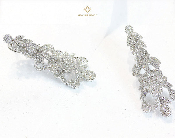Chandelier round and marquise diamond earring