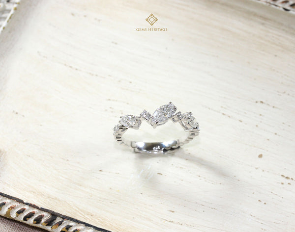 Fancy shape diamond ring
