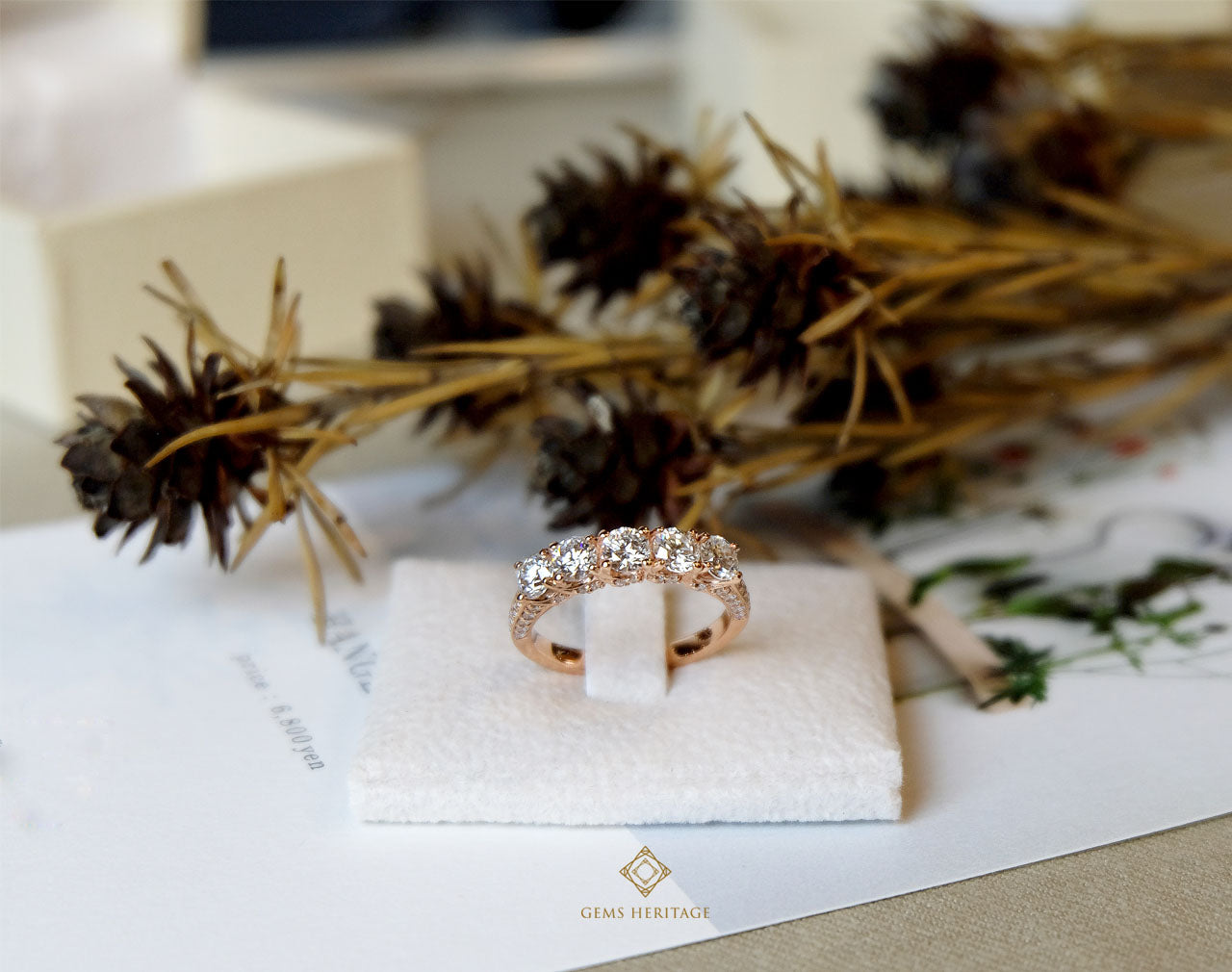 Vintage Rose gold diamond ring