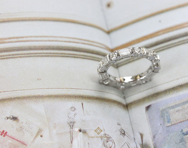 Baguette and round eternity ring