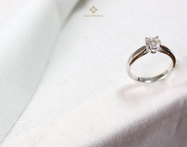 Classic solitaire 0.63 cts diamond ring