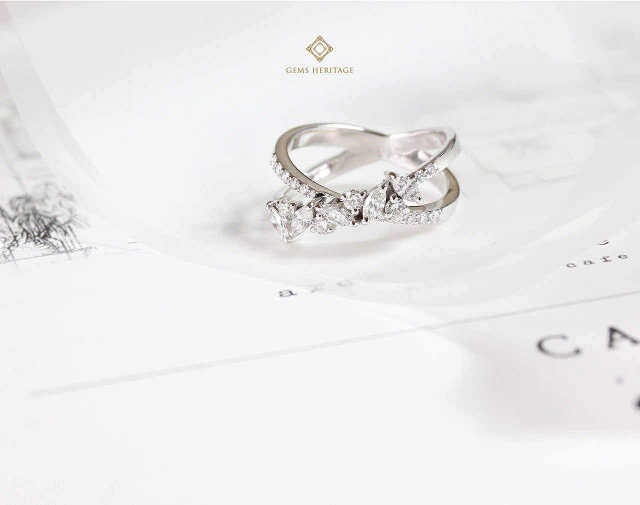 Cross Marquise Diamond RIng