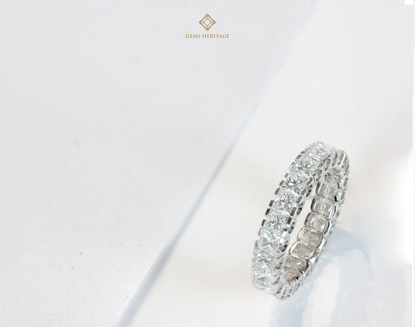 Princess cut eternity ring (0.14 cts each)