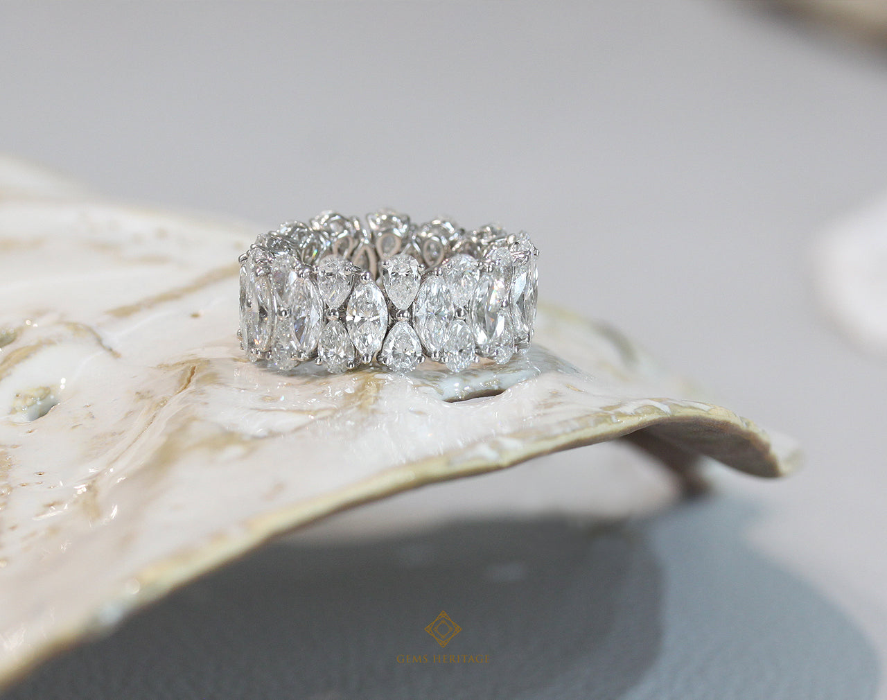 Marquise and Pear Diamond Ring