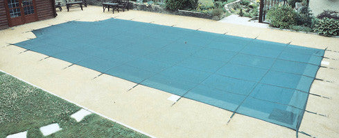 14' x 28' (52m²) Criss Cross Winter Debris Cover With Roman End