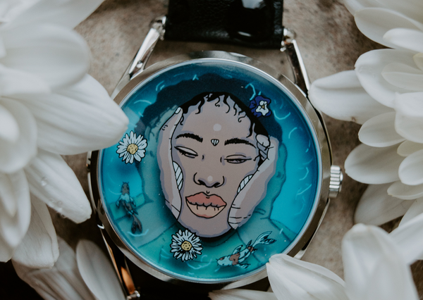 New limited edition watch Ophelia amongst flowers