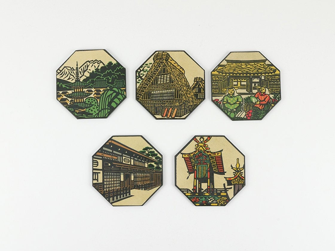 wagumi is a Japanese craft and design shop in the Oxo Tower, London. Japanese coasters