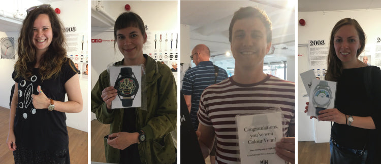 Treasure hunt winners during the Mr Jones Watches pop up shop