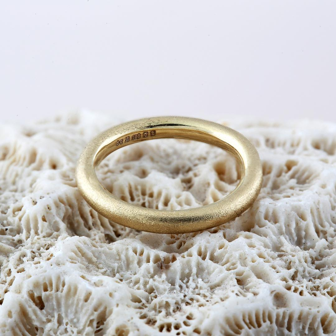 Dovileb jewellery, textured gold ring inspired by the natural landscape