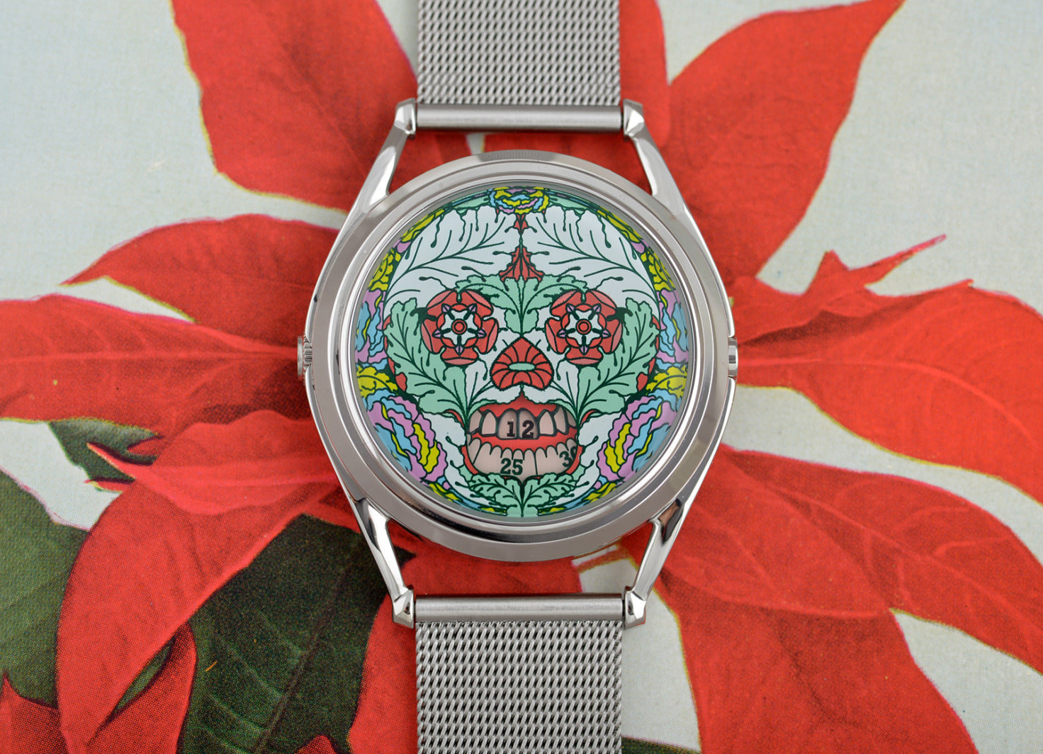 The Last Bloom watch with flower background
