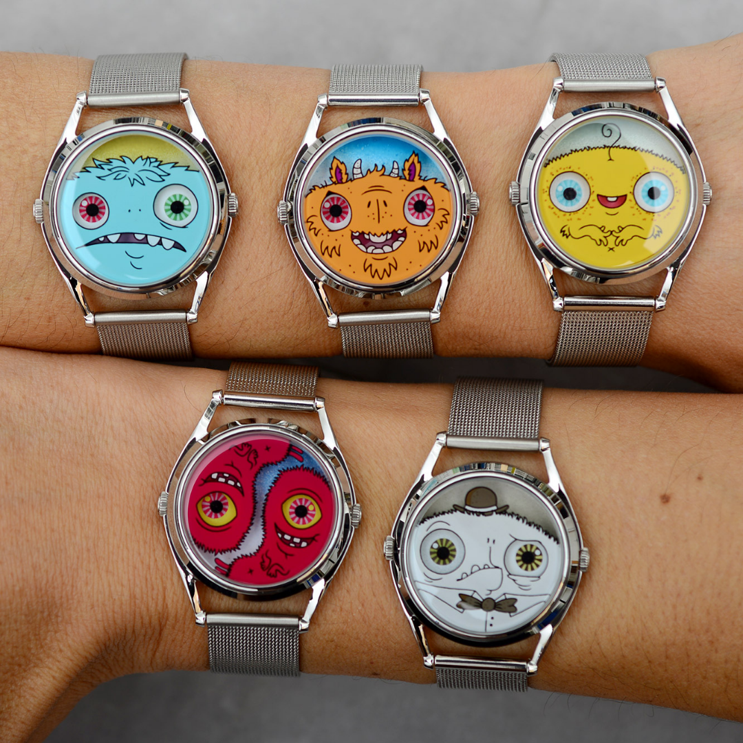 The Watchful Ones by Onorio D'Epiro and Mr Jones Watches, Monster watches