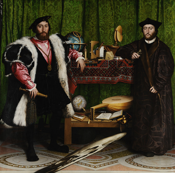 Hans Holbein - the ambassadors painting