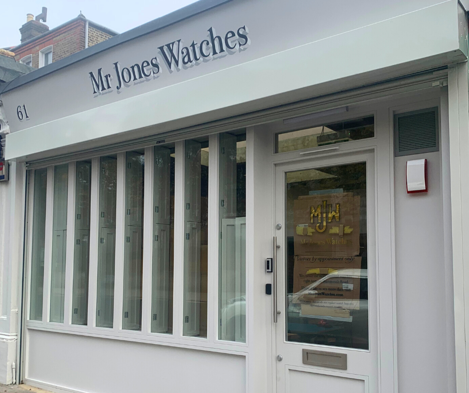 Mr Jones Watches workshop in Forest Hill South London