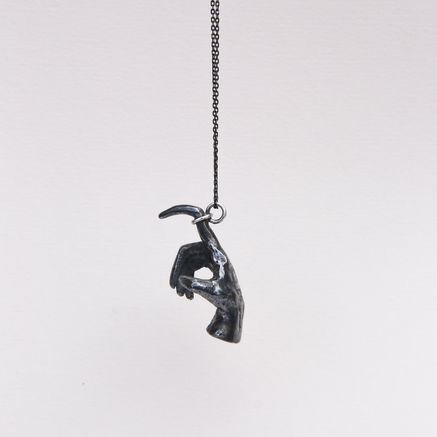 'Pointing Finger' pendant from Dove's Phobia collection