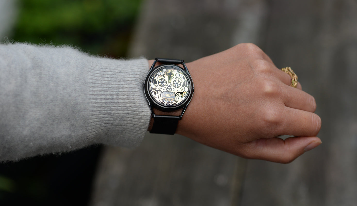 The Gilded Skull watch.