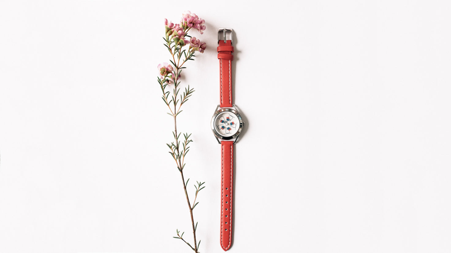 Phlox watch with flower