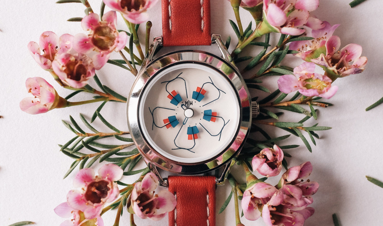 close up of Phlox watch