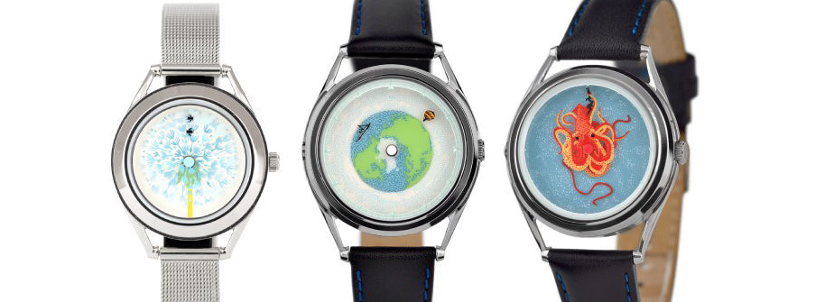 Previous watch designs by Fanny Shorter