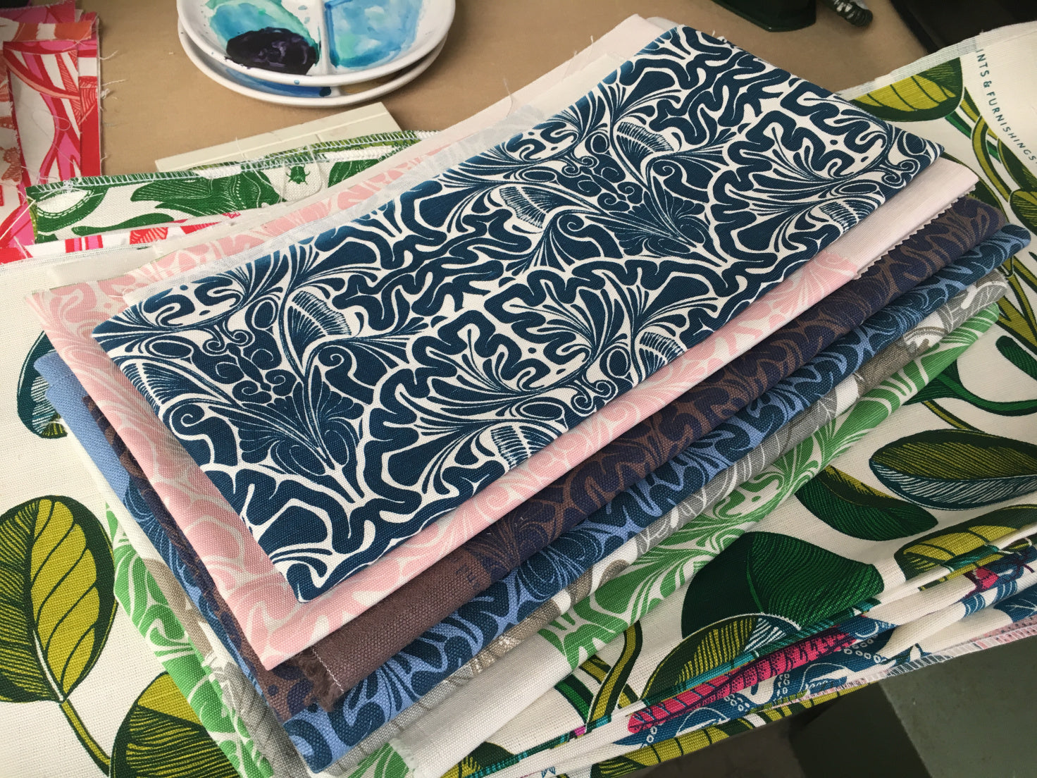 Fanny Shorter's design work, printed onto fabric