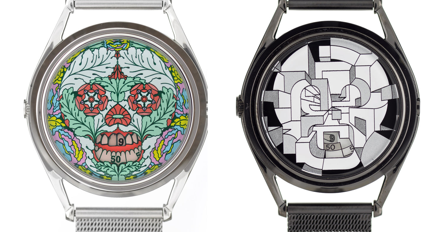 Skull watches by Edward Monaghan