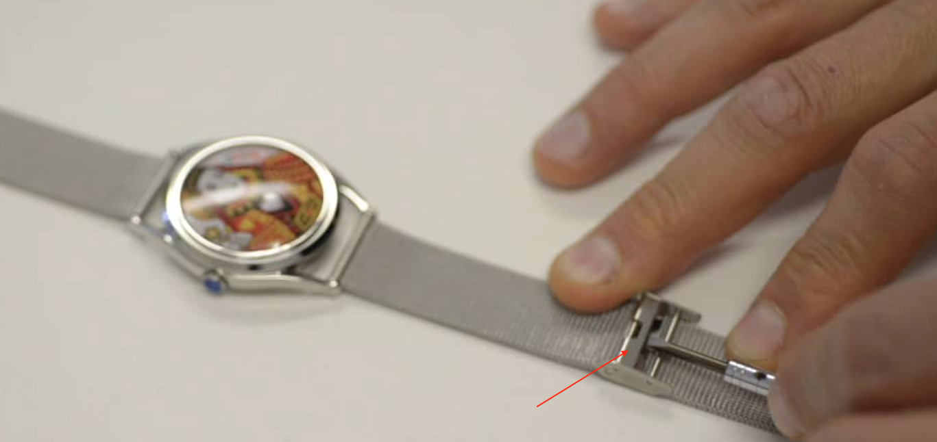 how to adjust the size of your metal watch strap - step 1
