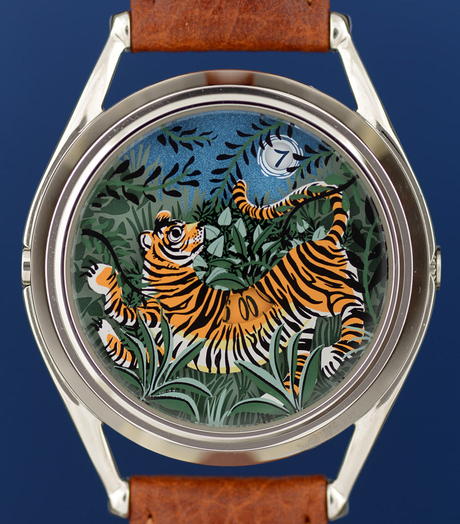 The Promise of Happiness tiger watch finished design