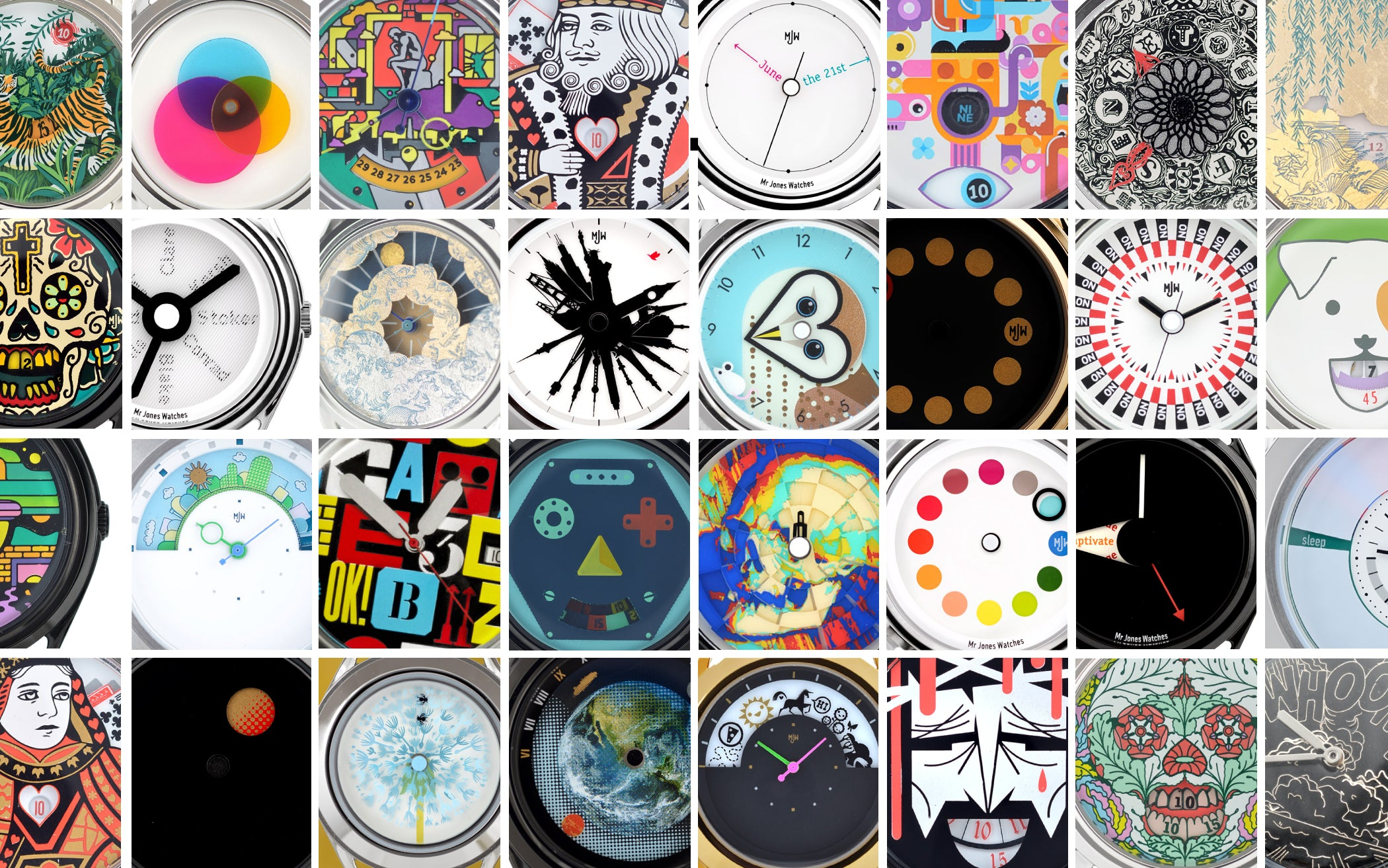 Mr Jones Watches ten years of watch designs
