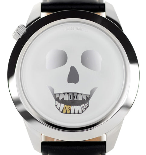 The Last Laugh XL skull watch