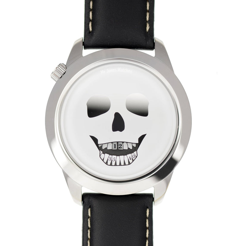 The Last Laugh XL watch - front facing flat view