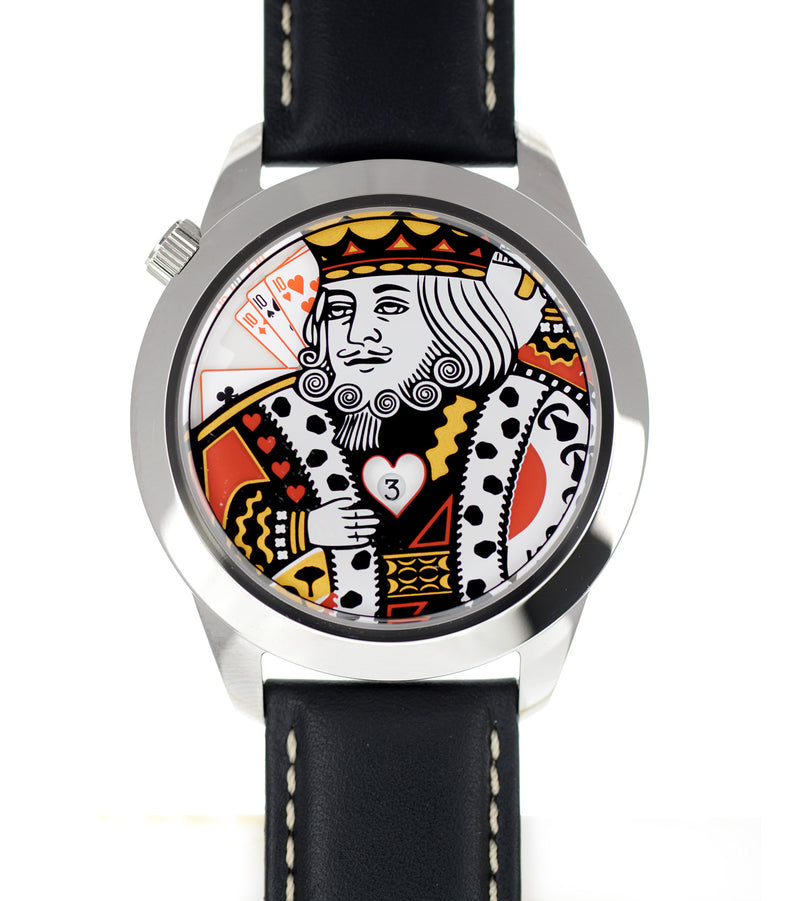 The King XL watch flat view
