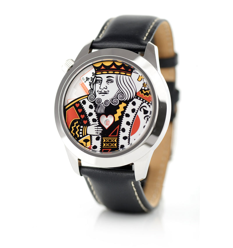 The King XL watch side view