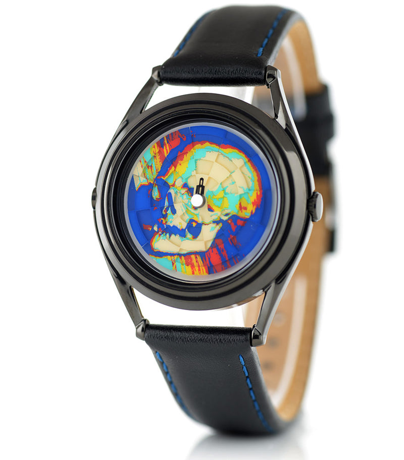 Ambassador colourful skull watch by Mr Jones Watches - side view