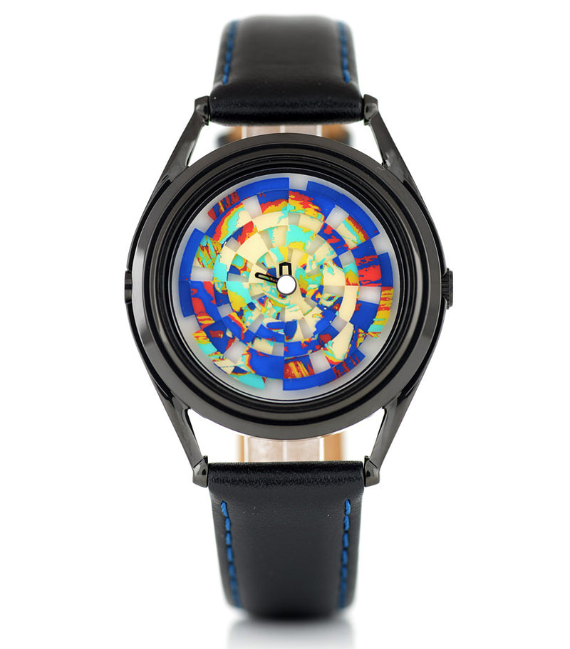 Ambassador colourful skull watch by Mr Jones Watches - front view 2