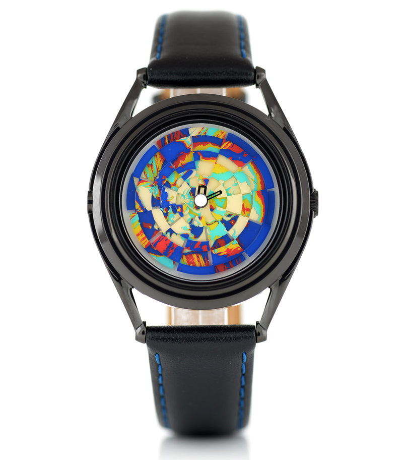 Ambassador colourful skull watch by Mr Jones Watches - front view